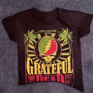 Grateful Dead crop top ⚡️🌹 sz S/M